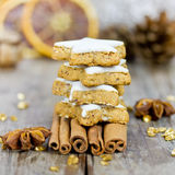 Tower of xmas cookie Royalty Free Stock Photo