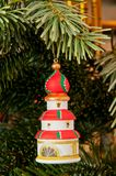 Tower & xmas tree Royalty Free Stock Photography