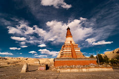 Tower in Zanda, Tibet. Zanda County is a county in the Ngari Prefecture to the extreme south west of the Tibet Autonomous Region of China Stock Photography