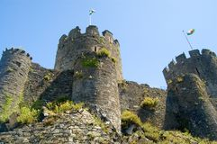 The towering castle Royalty Free Stock Photo