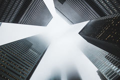Towering city skyscrapers Royalty Free Stock Photos