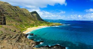 Towering Cliff Near Makapuu Point, Oahu Hawaii Stock Image