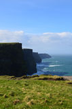 Towering Cliff`s of Moher in County Clare Ireland. Beautiful towering` Cliff`s fo Moher in County Clare Ireland Royalty Free Stock Photos
