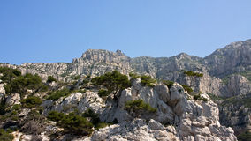 The Towering Cliffs of the Mediterranean Royalty Free Stock Image