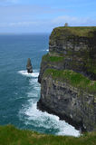 Towering Cliffs of Moher. Beautiful towering Cliffs of Moher in Ireland Stock Photography