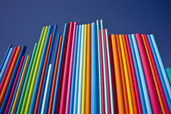 Towering Colors. An spectrum of colors rising toward the sky stock image