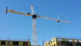 Towering construction crane Royalty Free Stock Photo