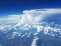 Towering cumulus cloud with anvil head Royalty Free Stock Images
