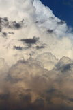 Towering Cumulus clouds. Puffy white cumulus clouds tower into the sky Royalty Free Stock Photos