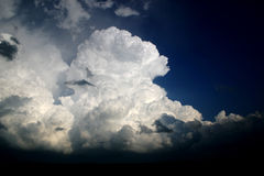 Towering cumulus thunderstorm clouds Royalty Free Stock Images
