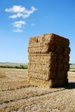Towering haystack Royalty Free Stock Photos