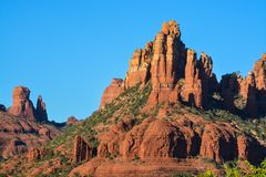 Towering landscape in Sedona Arizona.  Stock Photos
