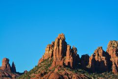 Towering landscape in Sedona Arizona.  Royalty Free Stock Images