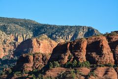 Towering landscape in Sedona Arizona.  Royalty Free Stock Photo