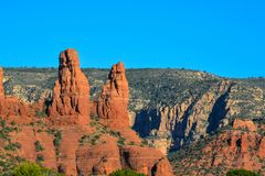 Towering landscape in Sedona Arizona.  Royalty Free Stock Photography