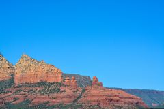 Towering landscape in Sedona Arizona.  Stock Photo