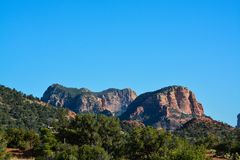 Towering landscape in Sedona Arizona.  Royalty Free Stock Photos