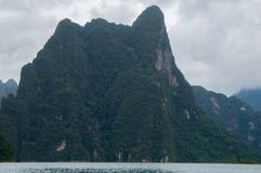 Towering limestone mountains Royalty Free Stock Images