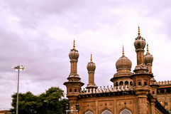 The towering minarets in Mecca Masjid,Hyderabad Royalty Free Stock Photo