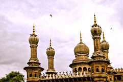The towering minarets in Mecca Masjid,Hyderabad Stock Photography