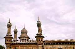The towering minarets in Mecca Masjid,Hyderabad Stock Images