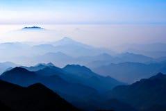 Towering mountains Stock Image