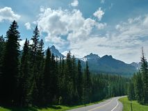 Towering Mountains on the way to Yellowstone National Park royalty free stock images