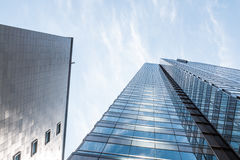 Towering Office Buildings in a Financial District Stock Images