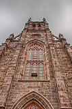 Towering. An old church in New Brunswick Royalty Free Stock Photo