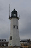Towering Old Scituate Light in Massachusetts Royalty Free Stock Image