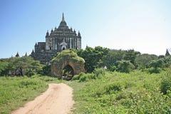 Towering Bagan temple ruin. Towering old temple on the plains of Bagan, Myanmar Stock Image