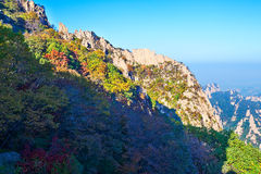 The towering peak of Zu mountain Stock Images
