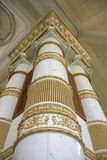 Towering Pillars. Intricately designed golden pillars stock photos