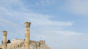 Towering pillars of the Temple of Olympian Zeus Royalty Free Stock Photo