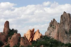 Towering Rock Formations in Garden of the Gods state park (Colorado). Royalty Free Stock Photography
