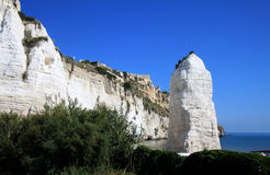Towering rock monolith Pizzomunno, Vieste Stock Photo