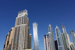 Towering skyscrapers of Dubai Marina Royalty Free Stock Photos
