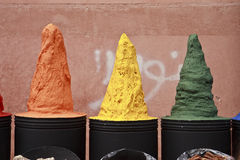 Towering Spice Display Royalty Free Stock Photo