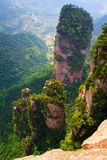 Towering Stone Pillar, Zhangjiajie China Royalty Free Stock Photos