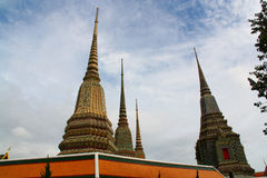 Towering Wat Pho at Bangkok Stock Photography