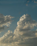 Towering white clouds Stock Photography