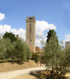 Towers. High tower in san gimignano Tuscany Royalty Free Stock Photography