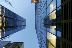 Towers. Inner city architecture with glass and steel  and steel Stock Images