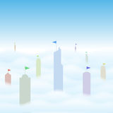 Towers. Vector illustration of skyscrappers representing giant economies of the world Stock Images