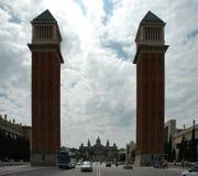 Towers. Barcelona Stock Photography
