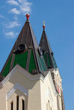 Towers. The towers church in Brno Royalty Free Stock Photography