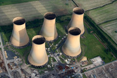 Towers. Aerial of High Marnham Power Station Royalty Free Stock Images