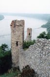 Towers. Devon Castle over the Danube river. Slovakia Stock Image