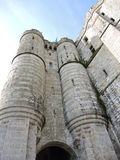 Towers of abbey mont saint-michel in Normandy Royalty Free Stock Photos