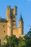 Towers of Alcazar in Segovia Royalty Free Stock Photo